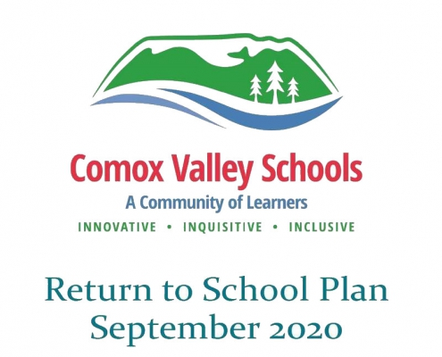 SD71 return to school graphic